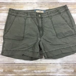 Levi's military green cotton cargo shorts 14